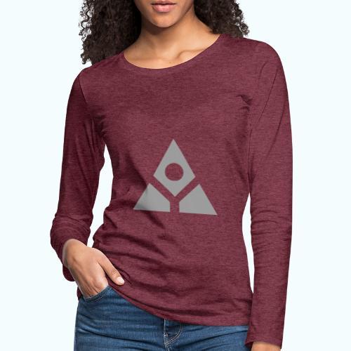 Sacred geometry gray pyramid circle in balance - Women's Premium Longsleeve Shirt