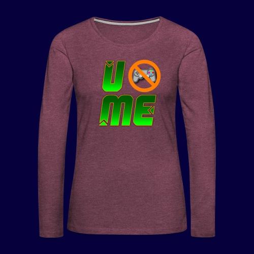 Ucant1-orange - Frauen Premium Langarmshirt
