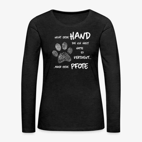 Hand Pfote Hund - Frauen Premium Langarmshirt