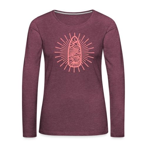 Nail Design Art - Vrouwen Premium shirt met lange mouwen