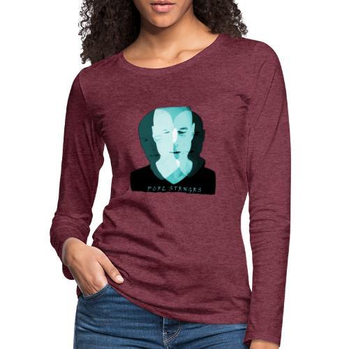 Front Man (turquise) - Dame premium T-shirt med lange ærmer