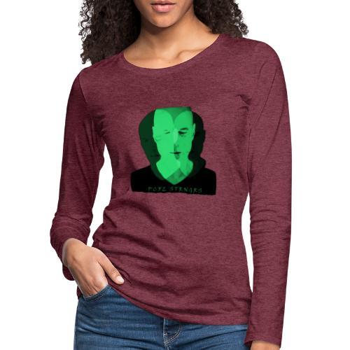 Front Man (green) - Dame premium T-shirt med lange ærmer