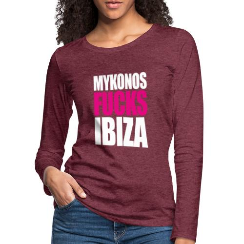 MYKONOS VS IBIZA - T-shirt manches longues Premium Femme