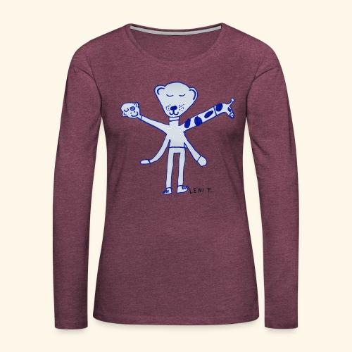 LeniT Teddy With a Twist - Naisten premium pitkähihainen t-paita