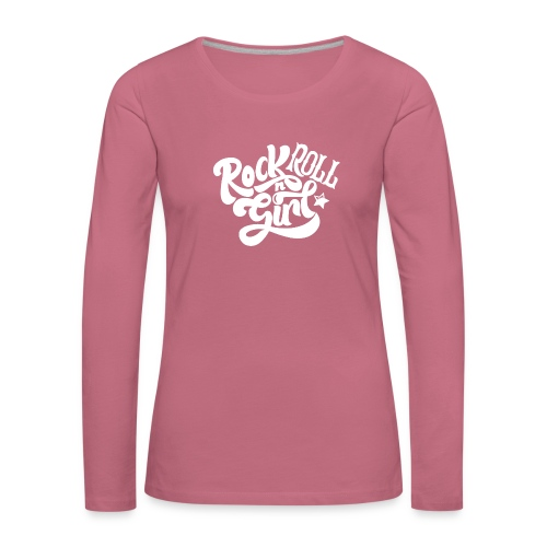 Rock n Roll Girl - Naisten premium pitkähihainen t-paita