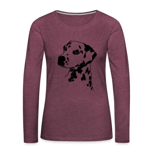 Dalmatiner 004 - Frauen Premium Langarmshirt