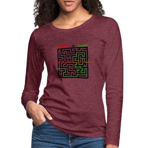 Parkour Maze parkour vs people - Dame premium T-shirt med lange ærmer