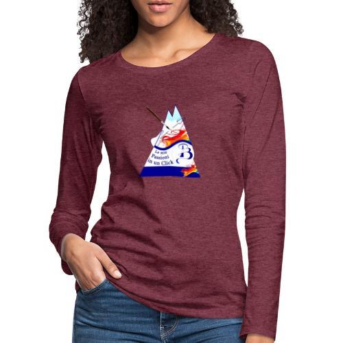 Logo colori - Maglietta Premium a manica lunga da donna