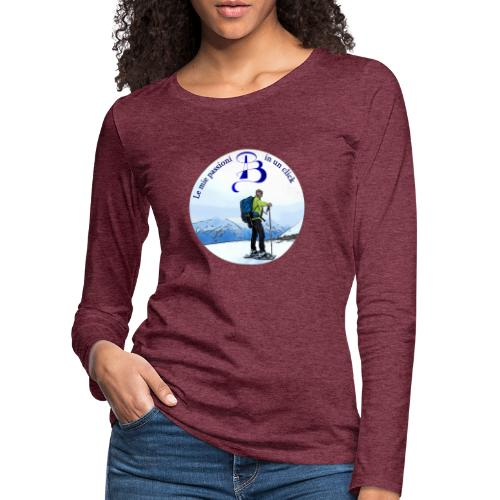 Logo cartone ciaspole - Maglietta Premium a manica lunga da donna