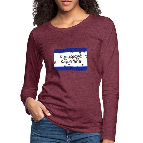 mg kapariana - Frauen Premium Langarmshirt