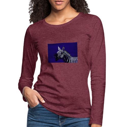 blue zebra - Women's Premium Longsleeve Shirt