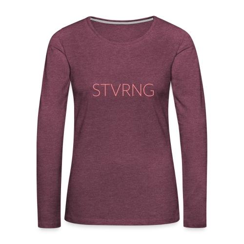 Stvrng - Dame premium T-shirt med lange ærmer