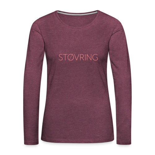 Støvring Plain - Dame premium T-shirt med lange ærmer