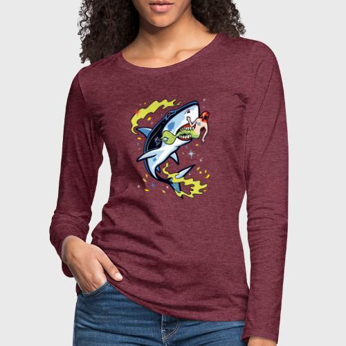 Requin mangeur de sirène - T-shirt manches longues Premium Femme