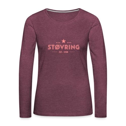 Støvring Stars - Dame premium T-shirt med lange ærmer