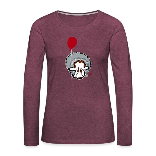 Evil Clown Sheep from IT - Premium langermet T-skjorte for kvinner