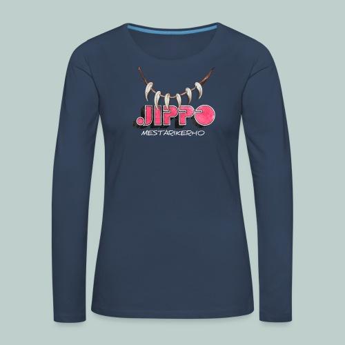 jippomestari_pink - Naisten premium pitkähihainen t-paita