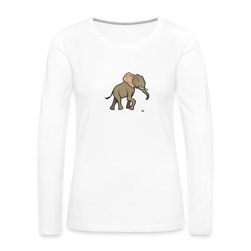 Afrikanischer Elefant - Frauen Premium Langarmshirt