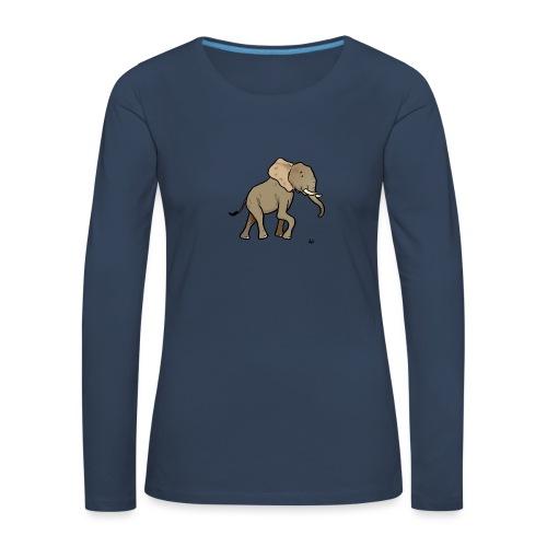 African Elephant - Frauen Premium Langarmshirt