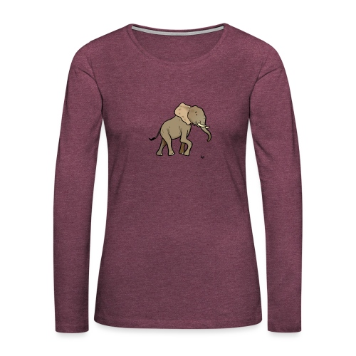 African Elephant - Women's Premium Longsleeve Shirt