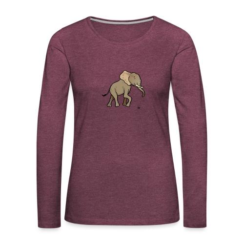Elefante africano - Maglietta Premium a manica lunga da donna
