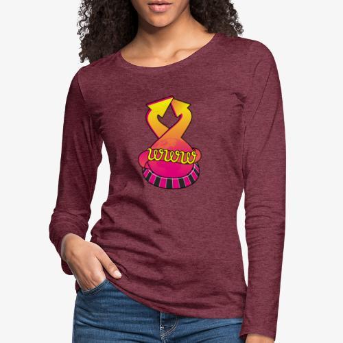 UrlRoulette logo - Women's Premium Longsleeve Shirt