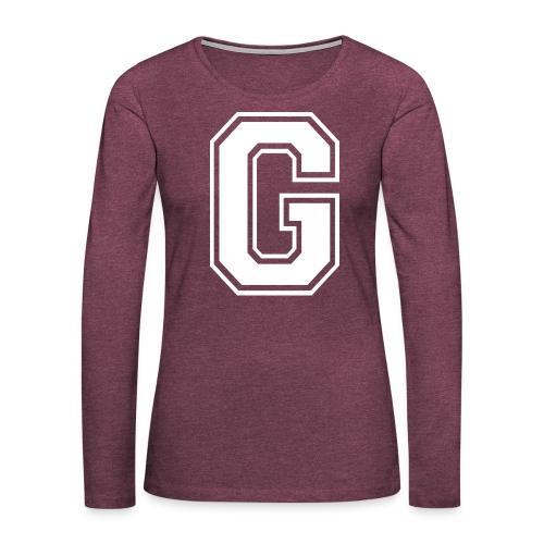 Grime Apparel G Grey Shirt. - Women's Premium Longsleeve Shirt