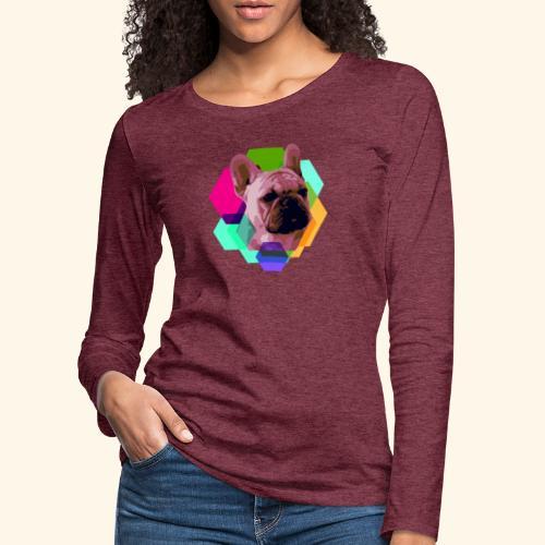 French Bulldog head - T-shirt manches longues Premium Femme