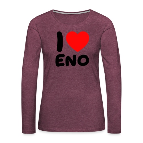 I love Eno / musta - Naisten premium pitkähihainen t-paita