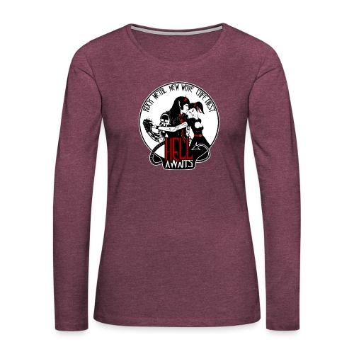 Hell Awaits - demonic couple - Vrouwen Premium shirt met lange mouwen