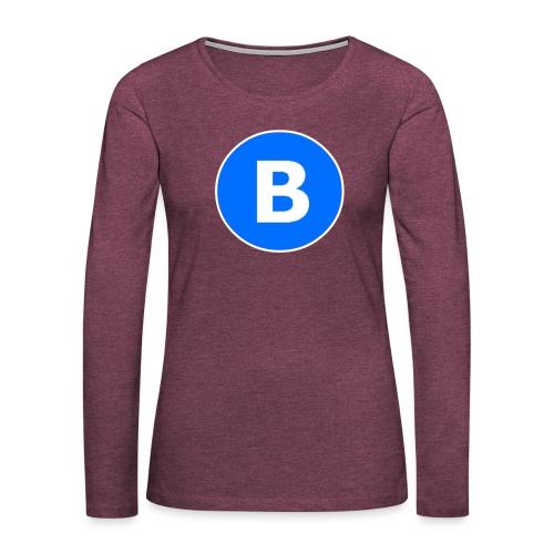 BluePrison - Dame premium T-shirt med lange ærmer