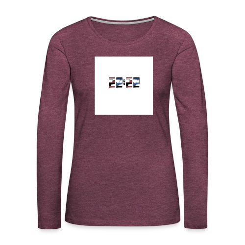 22:22 buttons - Vrouwen Premium shirt met lange mouwen