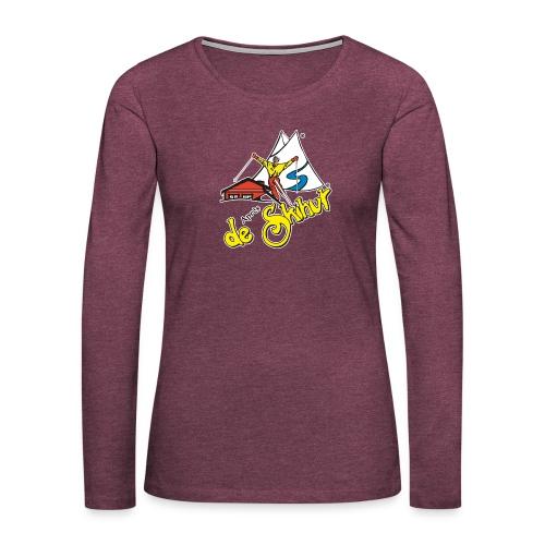 14787 fl tshirt logo skihut rotterdam - Vrouwen Premium shirt met lange mouwen