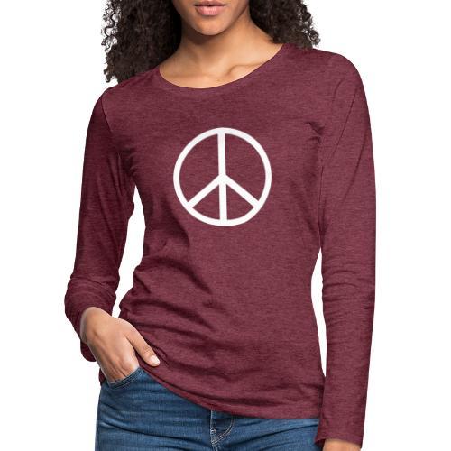 Símbolo de la paz blanco - Camiseta de manga larga premium mujer