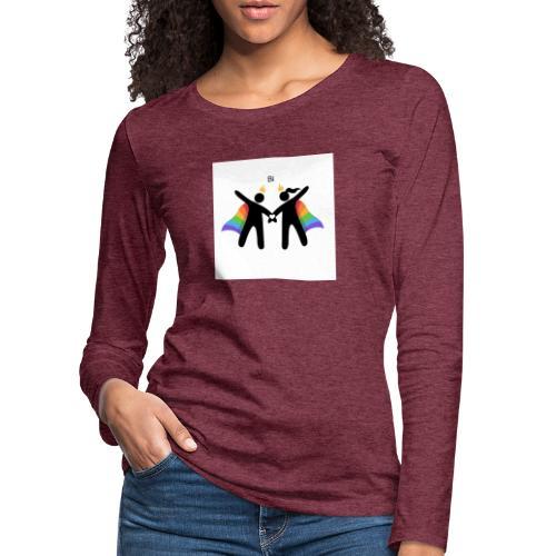 LGBT BI - Dame premium T-shirt med lange ærmer