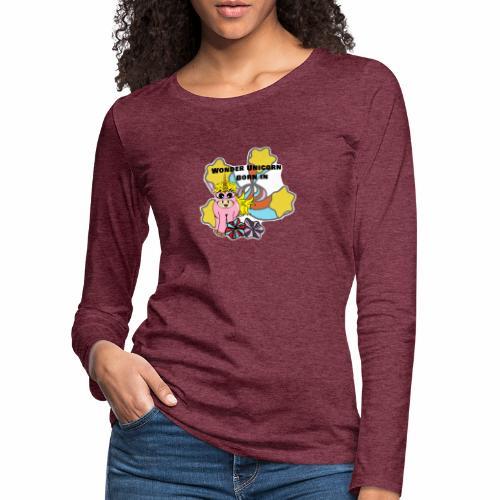 Merveilleuse Licorne née (pour fille) - T-shirt manches longues Premium Femme