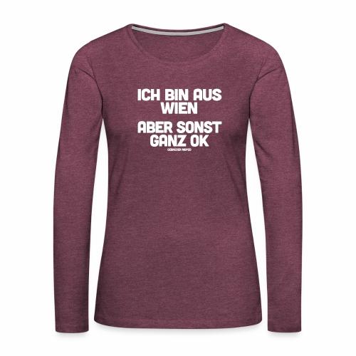 Wien - Frauen Premium Langarmshirt