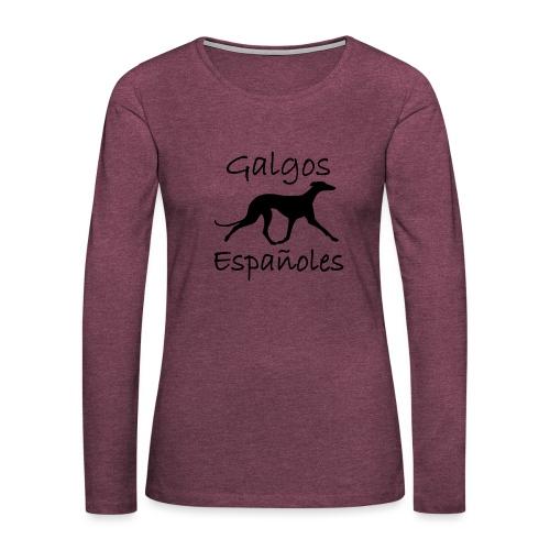 galgo laufendtext2 - Frauen Premium Langarmshirt