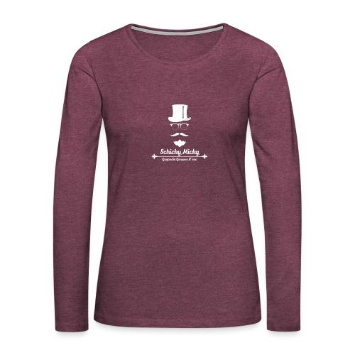 Schicky Micky Grosser K Weiss - Frauen Premium Langarmshirt