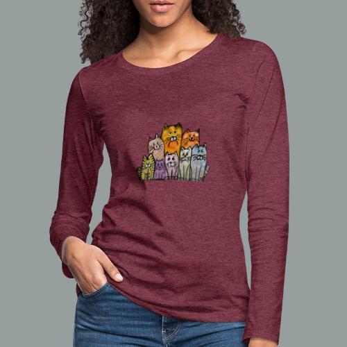Katzenbande - Frauen Premium Langarmshirt