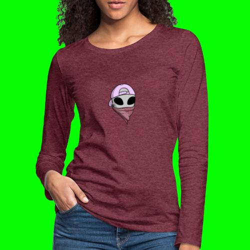 gangsta alien logo - Maglietta Premium a manica lunga da donna