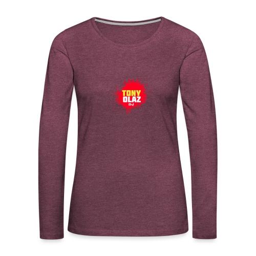 Marca Tony Olaz dj - Camiseta de manga larga premium mujer
