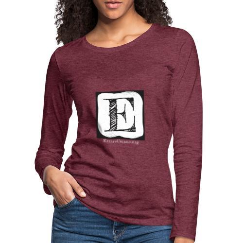 Logo ErrareUmano con scritta bianca - Maglietta Premium a manica lunga da donna