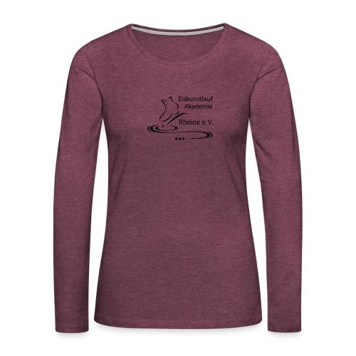 EARheine Logo schwarz - Frauen Premium Langarmshirt
