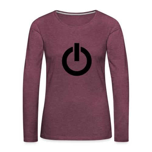 On off Noir - T-shirt manches longues Premium Femme