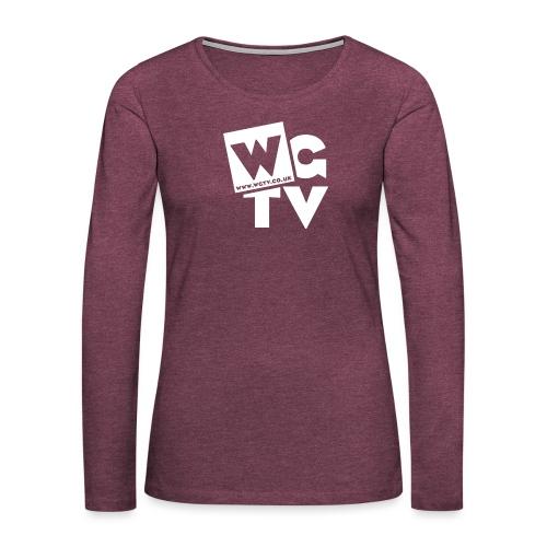 Logo_White_Large - Women's Premium Longsleeve Shirt