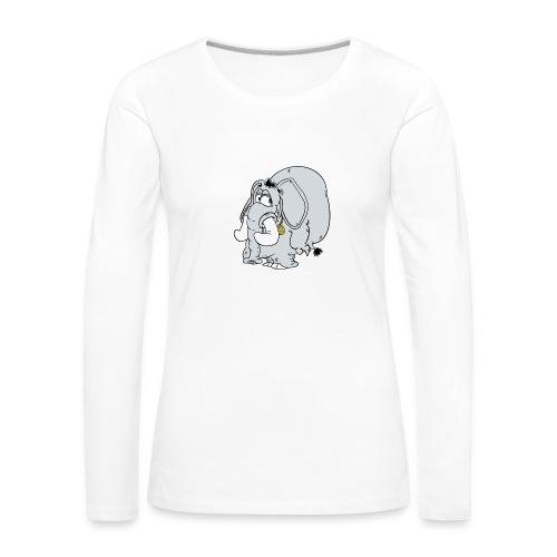 Fredsfant - Långärmad premium-T-shirt dam