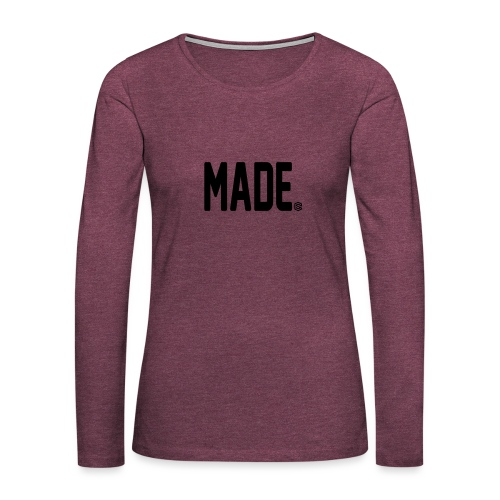 madesc - Långärmad premium-T-shirt dam