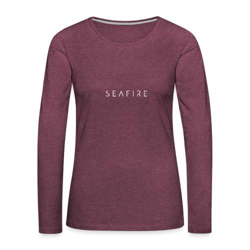 Seafire logo WHITE - Vrouwen Premium shirt met lange mouwen