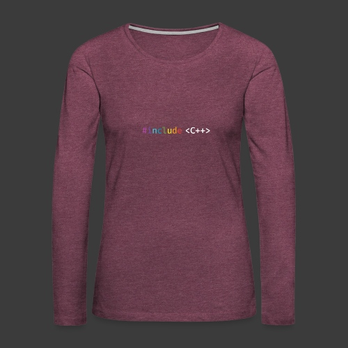 rainbow for dark background - Women's Premium Longsleeve Shirt